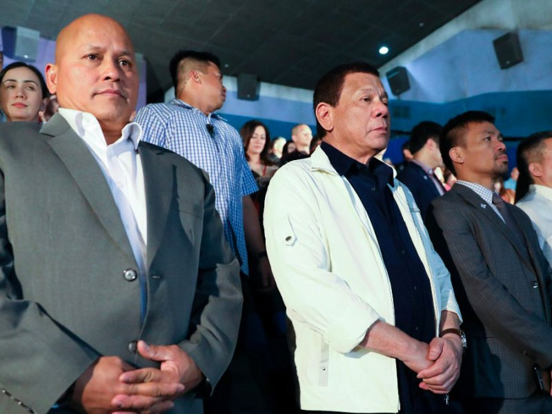Rodrigo Duterte, Ronald Dela Rosa, Manny Pacquiao, and Koko Pimentel