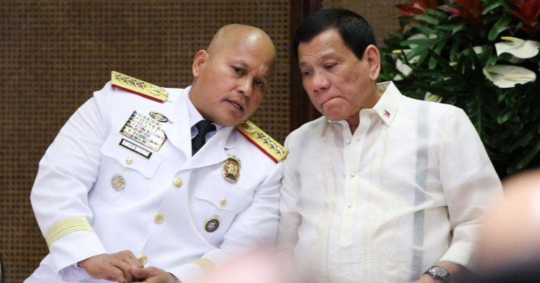 Ronald dela Rosa and Rodrigo Duterte