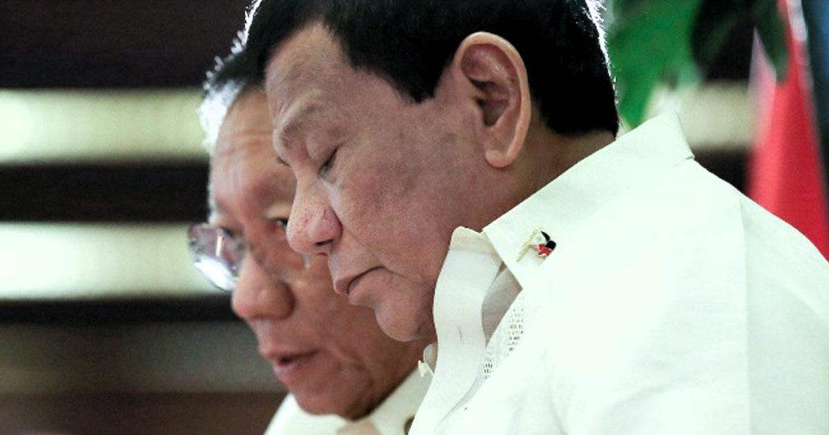 Jose Calida and Rodrigo Duterte
