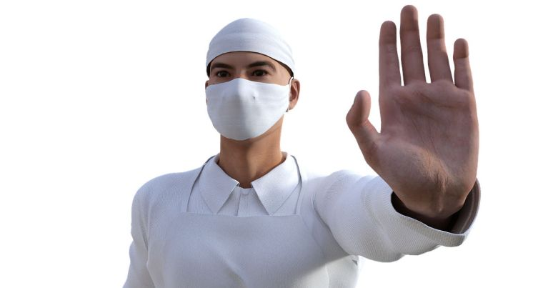 Doctor with surgical mask