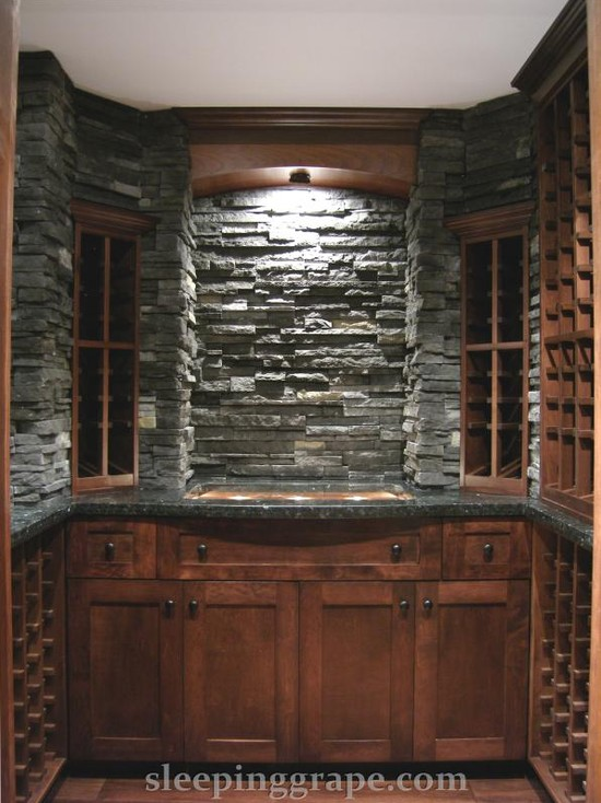 Glass Stone And Maple Wine Cellar (Vancouver)