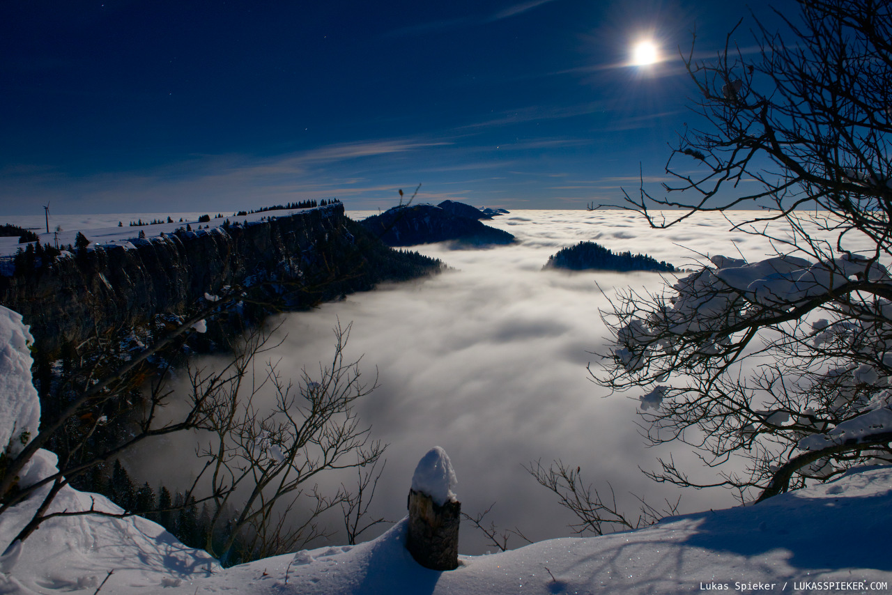 The full moon illuminates Switzerland's Jura mountains November 14, 2016. The perigee full Moon, or supermoon, brings the Moon on its orbit close to the Earth.