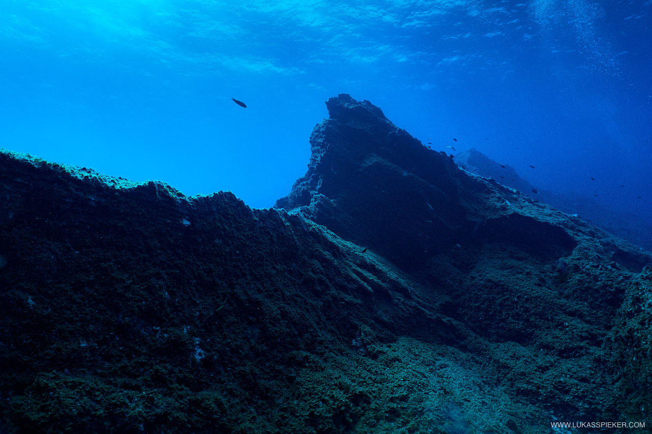 El Bajón is an underwater mountain with two summits and a crater near the fishing village of La Restinga in El Hierro.