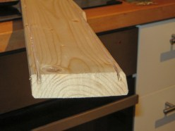 Sideview of the grooves we cut