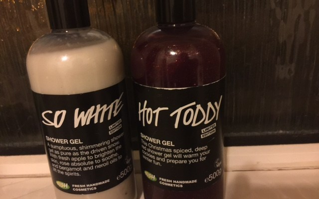 Lush So White and Hot Toddy Shower Gel Review