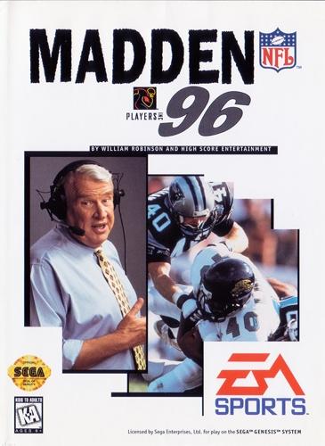 Madden NFL 96 Sega Genesis