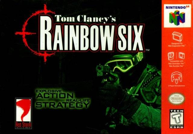 Tom Clancys Rainbow Six Black Nintendo 64 Game