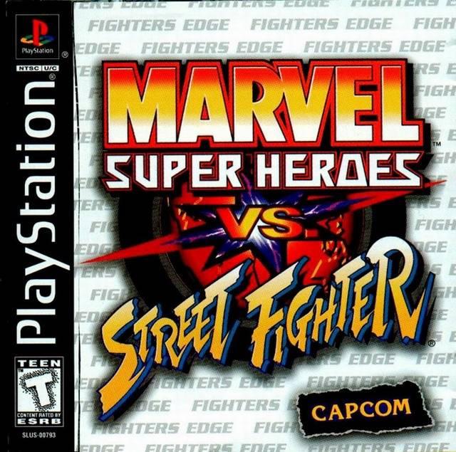 Marvel Super Heroes Vs Street Fighter Sony Playstation