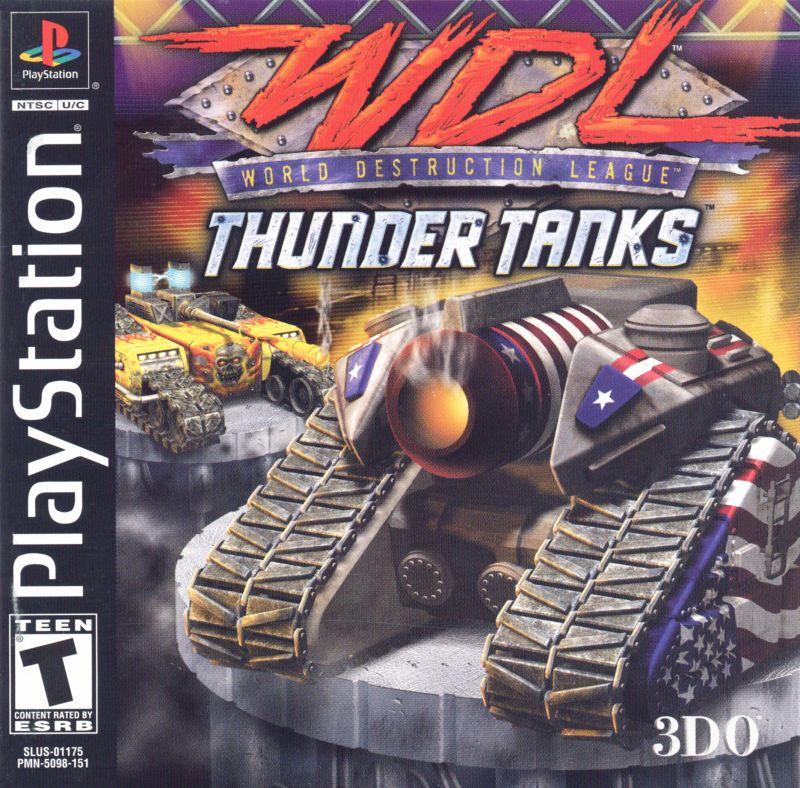World Destruction League Thunder Tanks Sony Playstation