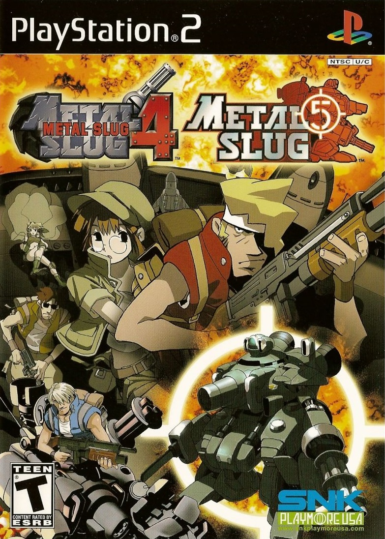 Metal Slug 4 Amp 5 Sony Playstation 2 Game
