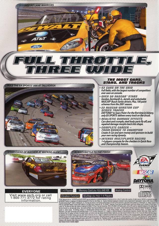 NASCAR Thunder 2002 Sony Playstation 2 Game