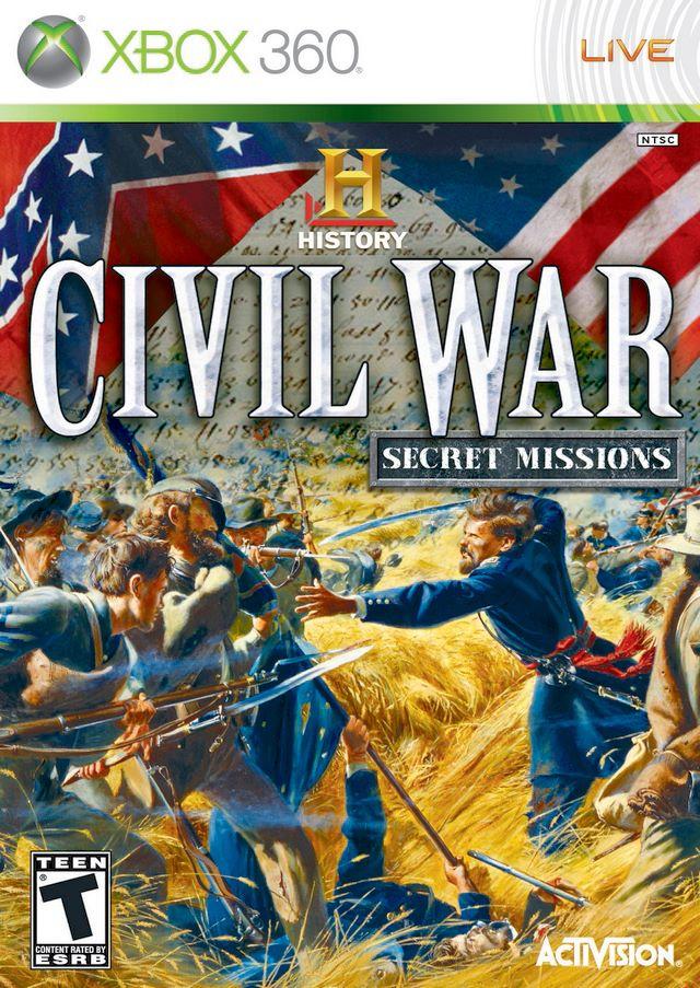 History Channel Civil War Secret Missions Xbox 360 Game