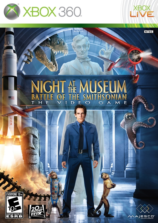 Night At The Museum Battle Of The Smithsonian Xbox 360 Game