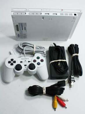 Slim White Playstation 2 PS2 System Console Used