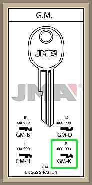 GM K lisäavain koodilla