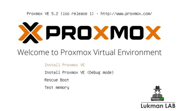Langkah-langkah Instalasi Proxmox VE (v5.2-1)