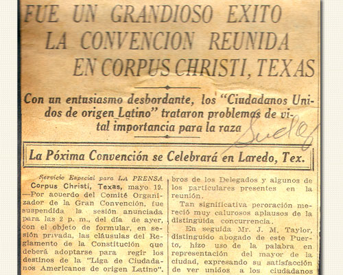 First LULAC Convention Article