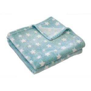Douxnid Κουβέρτα Γαλάζια Λευκά Αστέρια 100x150