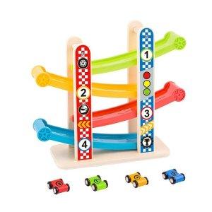 Tooky Toys Ξύλινη Πίστα Με Αυτοκινητάκια