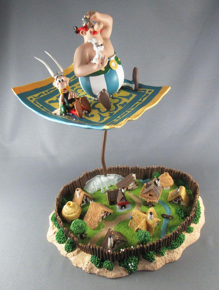 asterix atlas plastoy figurine resine le tapis volant le village en boite exclusive