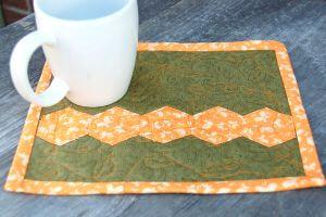 mug rug fall inspired