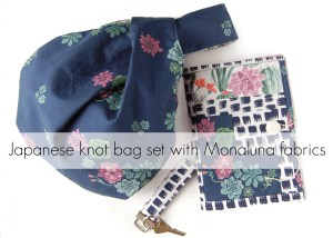 japanese knot bag sewn by lulu & celeste