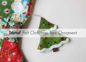 Felt Christmas tree ornament by Lulu & Celeste