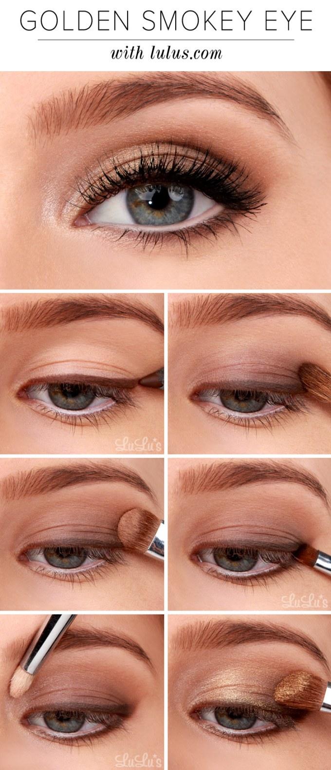 lulus how-to: golden smokey eyeshadow tutorial - lulus