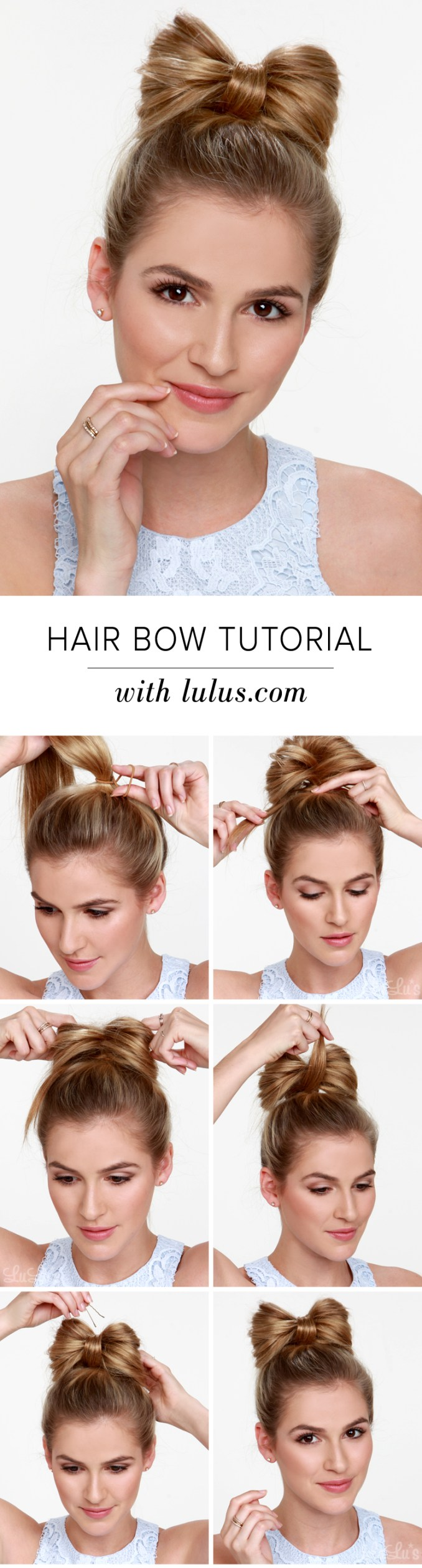 lulus how-to: hair bow tutorial - lulus fashion blog