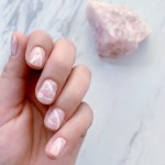 Rose Quartz Nails Get Good Vibes From A Pretty Pink Marble Mani Lulus Com Fashion Blog
