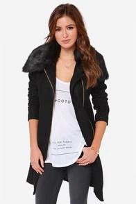 Tall Order Oversized Black Coat