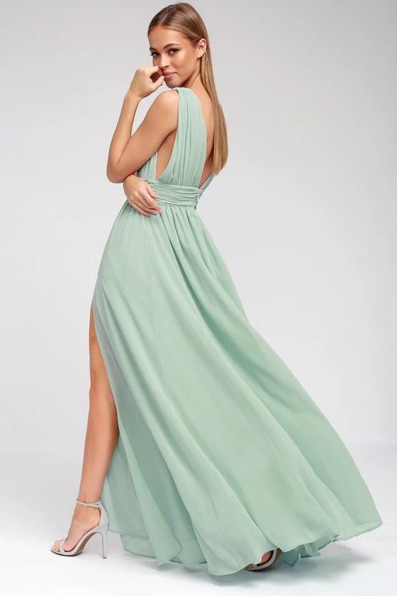 Mint Green Gown Maxi Dress Sleeveless Maxi Dress