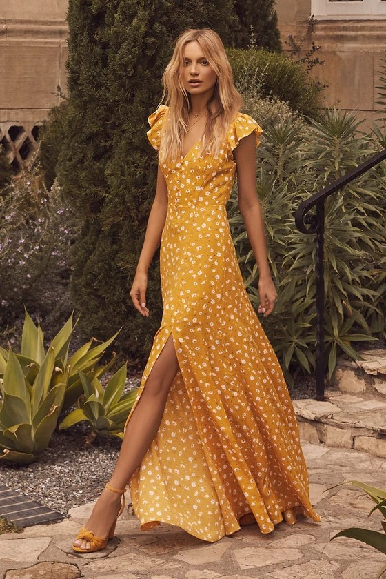 Klein Mustard Dress Yellow Shift Calvin