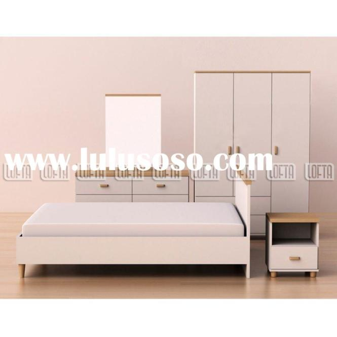 Modern White Bedroom Set Furniture With Wardrobe Dresser And Queen Bed