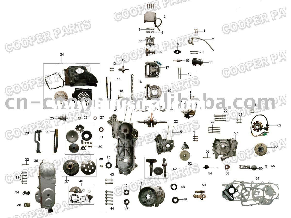 50cc Scooter Engine Parts 50cc Scooter Engine Parts