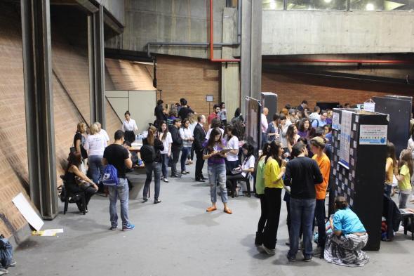 Visão da área de apresentação dos projetos, CCSP, 29 abril 2015