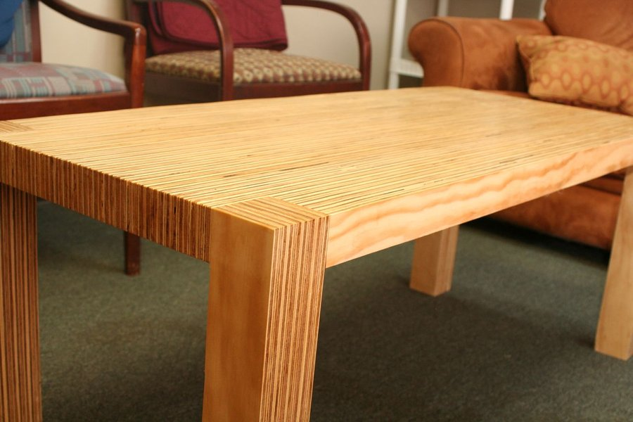 modern plywood coffee table by
