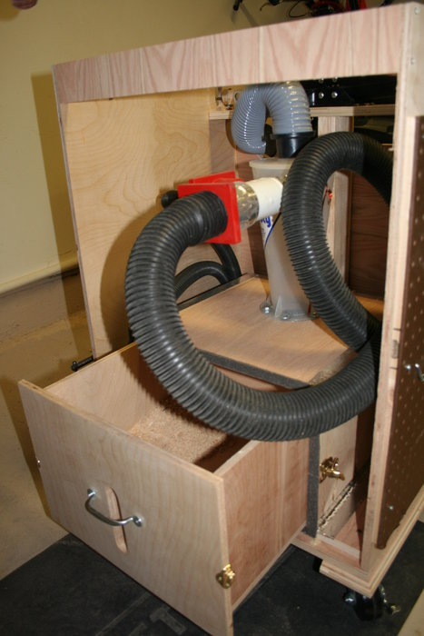 Mobile Workbench With Dust Collection By Geekydad79