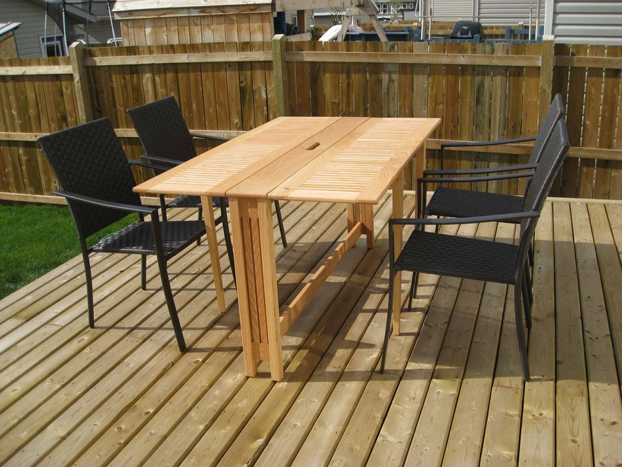 folding outdoor table by demonts