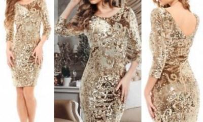 Modele de Rochii de Seara cu Paiete Lungi si Scurte Online