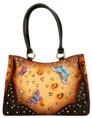 geanta handmade piele pictata Niarvi Sahara Dusk