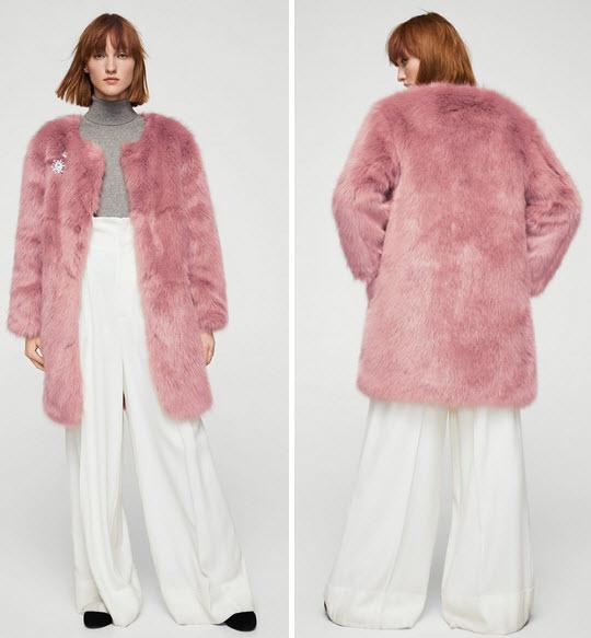 haina blana artificiala roz prafuit