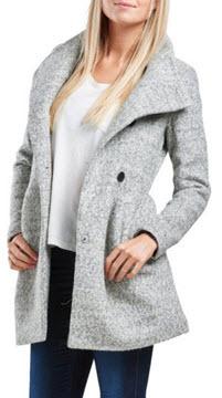 palton gros scurt gri deschis ieftin