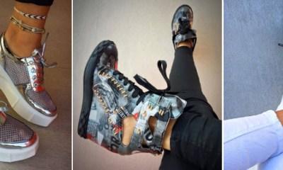 Oferta cu sneakers tenisi si adidasi de dama cu platforma online
