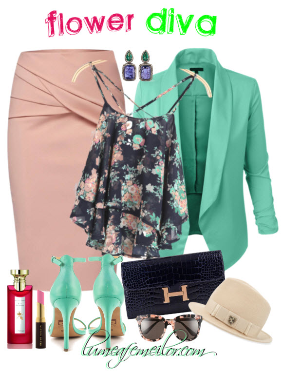 outfit flower diva