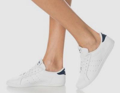 Tenisi albi de piele Miss Stan adidas Originals