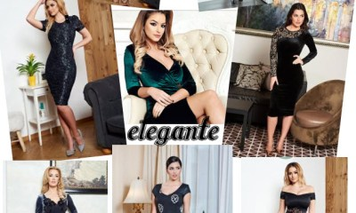 rochii midi elegante online din catifea vandute in magazine online