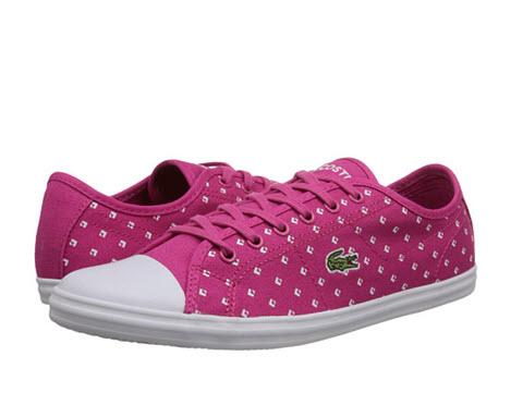 tenisi dama roz cu buline lacoste