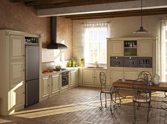 frigider smeg in bucatarie vintage