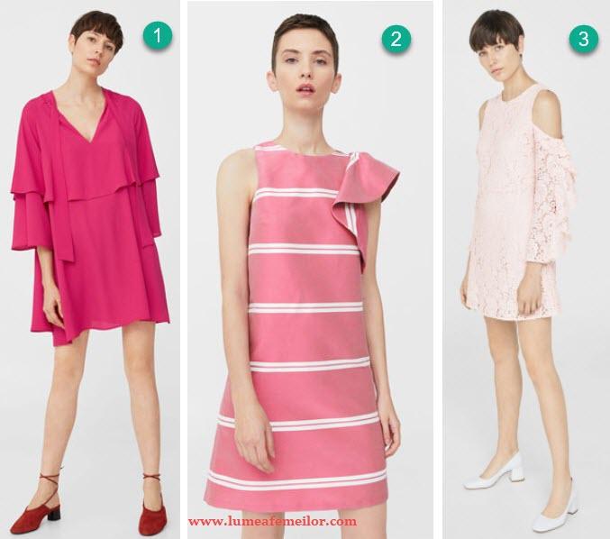 rochii Mango roz